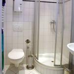 Das Badezimmer der Gästewohnung