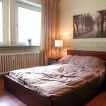 Das Schlafzimmer der Gästewohnung