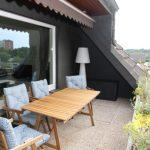Der Balkon der Gästewohnung
